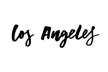 slogan Los Angeles phrase graphic vector Print Fashion lettering calligraphy