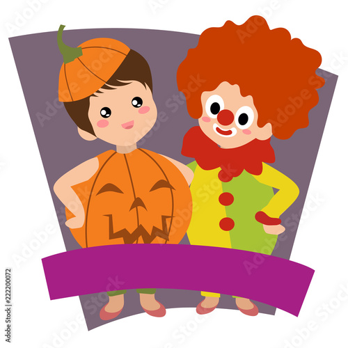 Halloween Clown And Pumpkin Kids Theme