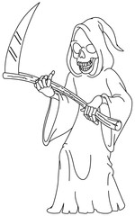 outlined grim reaper