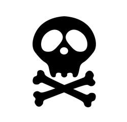 Crossbones . danger or poison flat icon for apps and websites. Skeleton body part. Happy Halloween sign symbol. Pirate flag. death skull