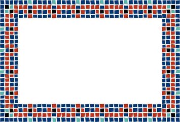 Fondo de mosaico de diferentes colores.