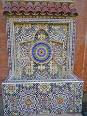 Fotobehang Fontaine Maroc, fontaine Vallée de l'Ourika