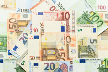 background of euro banknotes