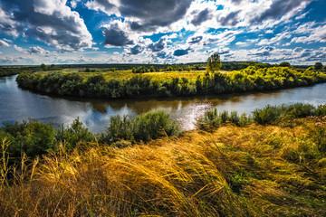 Summer river landscape. Siberia, Russia