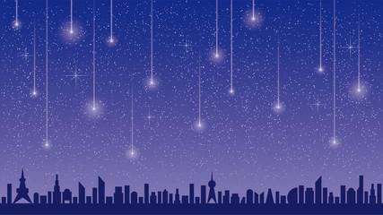 星空と流星