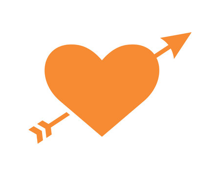 arrow heart love valentine amour romance romantic lover image vector icon logo symbol