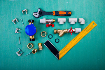 ater meter and plumbing tools, polypropylene, metal-plastic and PVC pipes