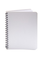Plain White Notebook on a White Background