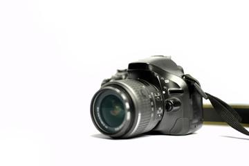 Digital SLR Camera isolated on white background