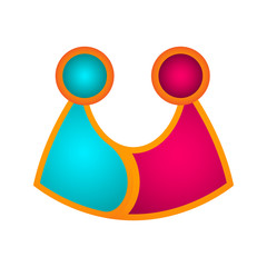 Isolated teamwork business logo