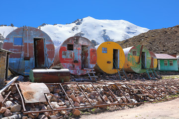 Abandoned Soviet glaciological station