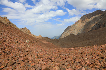Stone valley in the Tian Shan mountains