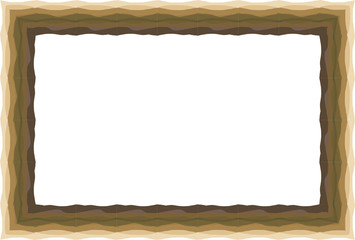Marco marrón de tierra.