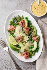 asparagus, avocado and prosciutto salad,