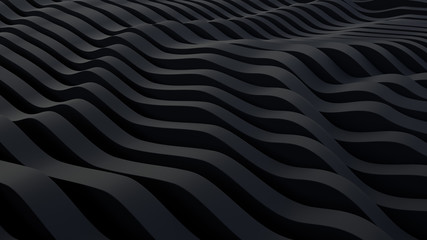 abstract black parametric background