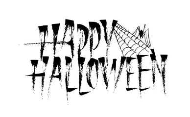 Happy Halloween calligraphy lettering inscription.