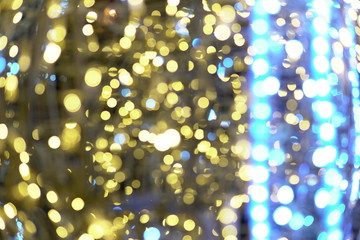 Bokeh of multicolored lights new year Christmas