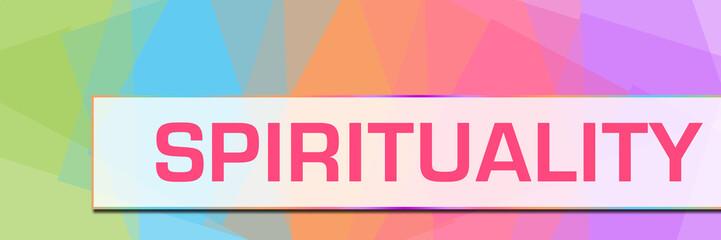 Spirituality Colorful Abstract Background Horizontal