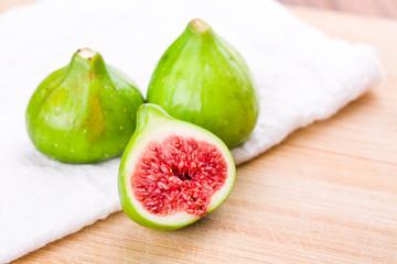 Fresh fig fruit on table, closeup