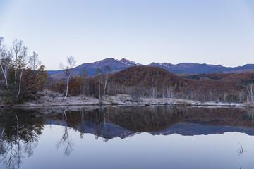 乗鞍高原、まいめの池と乗鞍岳