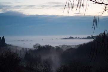 Misty Hills at Dawn