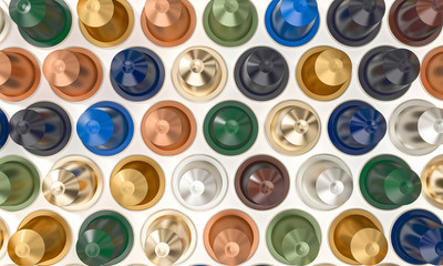 coffee capsule 3d background