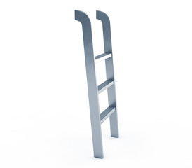 3d render of a metal staircase with thread