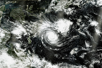 Typhoon Mangkhut. Elements of this image furnished by NASA