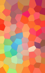 Abstract illustration of Vertical blue red and yellow bright Big Hexagon background, digitally generated.