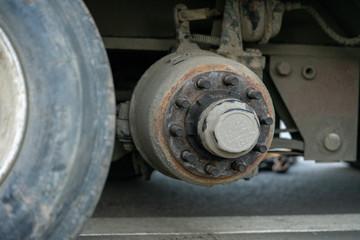 Wheel repair. Tire for a truck.