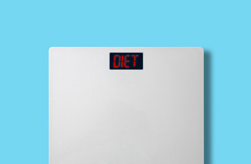 scale, fat burn and weight loss concept, diet