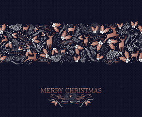 Merry Christmas copper ornament pattern card