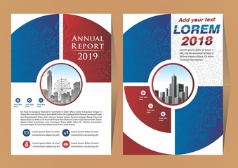 Vector Business brochure, flyers design template, company profile, magazine, poster, annual report with mandala ornament