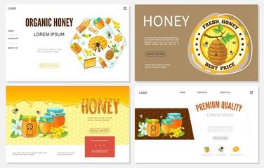 Cartoon Honey Websites Set