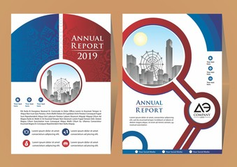 Abstract vector modern flyers brochure / annual report /design templates / stationery with layout background in size a4