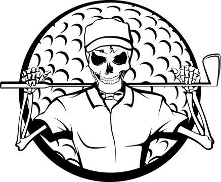 Halloween Skeleton Golfer