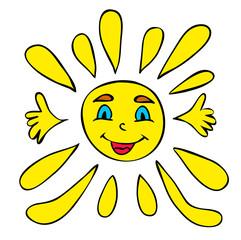 vector, character sun