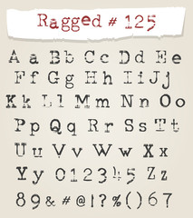 Ragged Typewriter Hand Drawn Font
