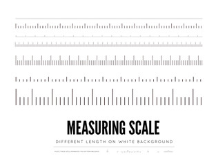 Measuring rulers of different scale, length and shape. elements