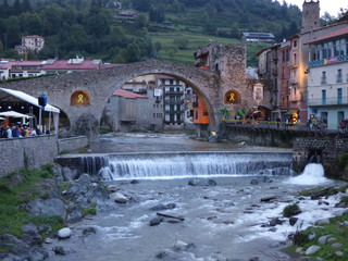 Camprodon. Pueblo medieval de Girona, Cataluña, España
