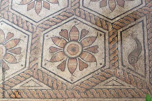 Ancient Roman Floor Mosaic The Punishment Of Dirce Stock Photo And
