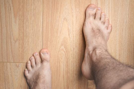Huge male feet