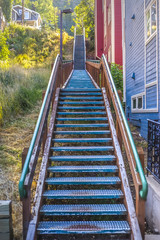 Stairs outdoor near residential homes Park City
