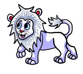 Adorable Albino Lion