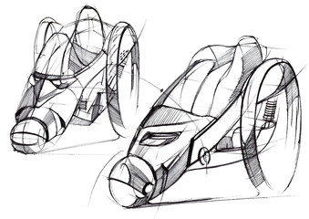 Sketch design is an exclusive compact electric car project for the city.