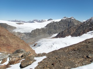 beautiful glacier hike and clim to Weisskugel mountain