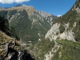 fort nauders in austria wit a landscape trail