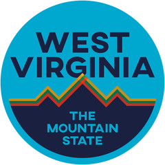 west virginia: the mountain state | digital badge