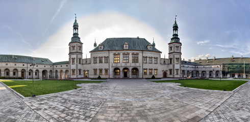 Baroque castle  Bishop's Palace in Kielce  Poland  Europe