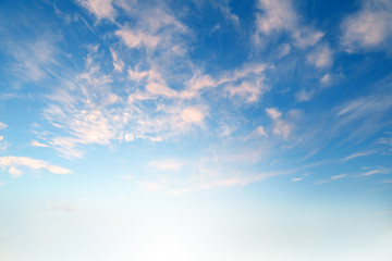 Soft clouds background